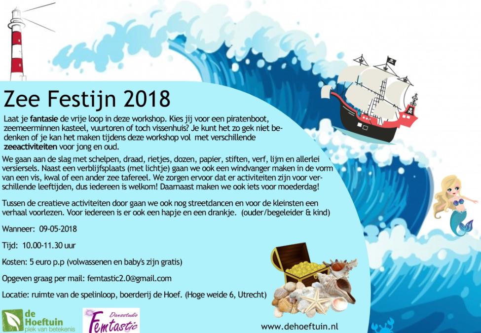 Zeefestijn workshop bij de spelinloop!