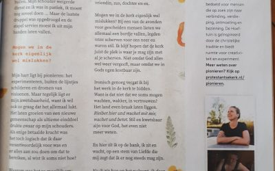 Gestrand: column van Rebecca uit PKN ledenblad Petrus